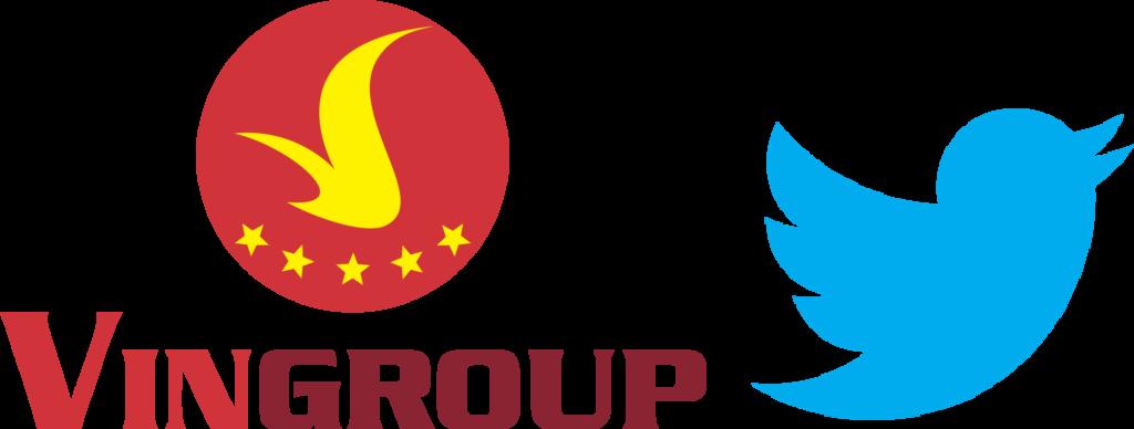Logo của tập đoàn Vingroup và Twitter