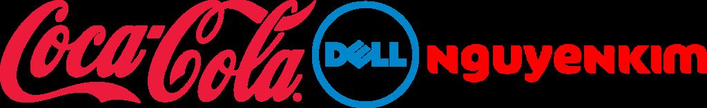 Logo của thương hiệu Coca-Cola, Dell và Nguyễn kim
