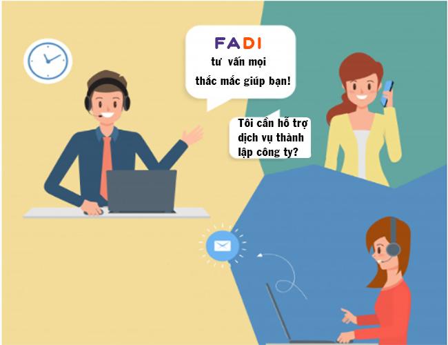 Hỗ trợ tư vấn 24/7 cho doanh nghiệp tại FADI
